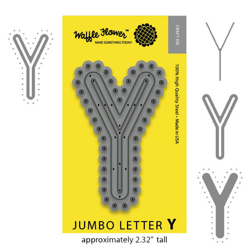 Waffle Flower Crafts - Craft Die - Jumbo Letter Y