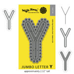 Waffle Flower Crafts - Craft Die - Jumbo Letter - Y