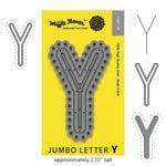 Waffle Flower Crafts - Craft Die - Jumbo Letter - Y