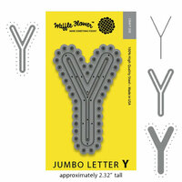 Waffle Flower Crafts - Craft Die - Jumbo Letter Y
