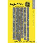 Waffle Flower Crafts - Craft Die - Year Round Words