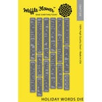 Waffle Flower Crafts - Craft Die - Holiday Words