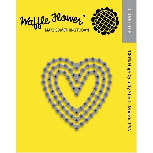 Waffle Flower Crafts - Craft Die - Stitched Hearts