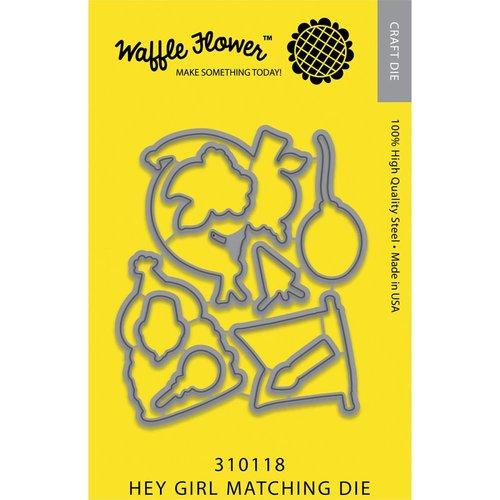 Waffle Flower Crafts - Craft Die - Hey Girl Matching Die