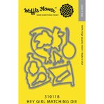Waffle Flower Crafts - Craft Die - Hey Girl Matching Die