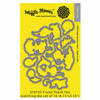 Waffle Flower Crafts - Matching Die - Fruity Thank You