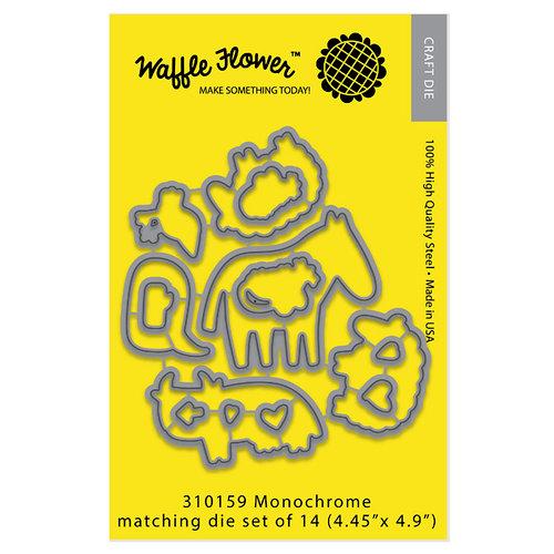 Waffle Flower Crafts - Matching Die - Monochrome