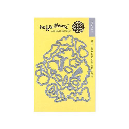 Waffle Flower Crafts - Matching Die - Smiling