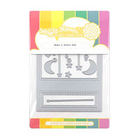 Waffle Flower Crafts - Craft Die - Moon and Stars Panel