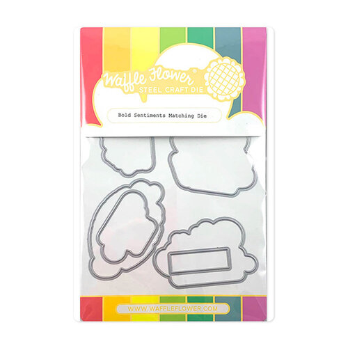 Waffle Flower Crafts - Craft Die - Bold Sentiments