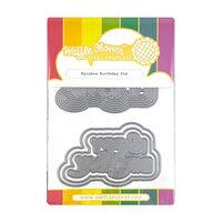 Waffle Flower Crafts - Craft Die - Rainbow Birthday
