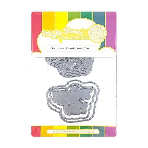 Waffle Flower Crafts - Craft Die - Rainbow Thank You