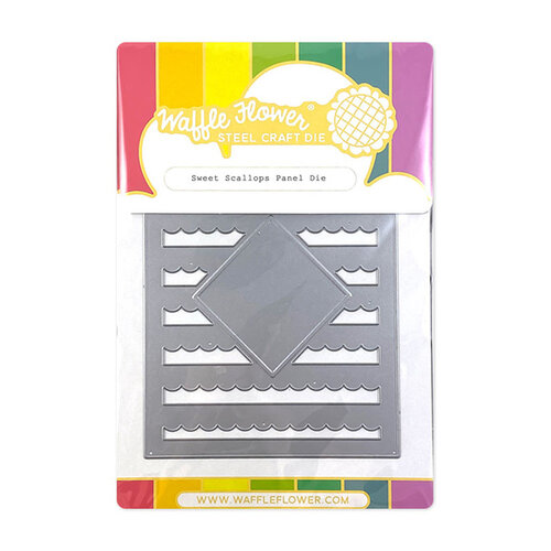 Waffle Flower Crafts - Panel Die - Sweet Scallops