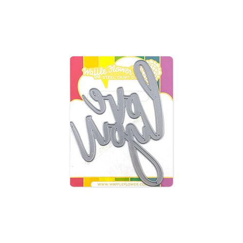 Waffle Flower Crafts - Word Die - Oversized Love