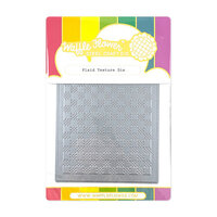 Waffle Flower Crafts - Stand Alone Craft Die - Plaid Texture