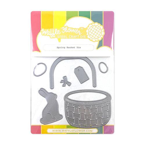 Waffle Flower Crafts - Stand Alone Craft Die - Spring Basket