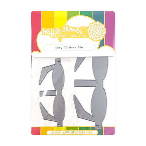 Waffle Flower Crafts - Stand Alone Craft Die - Easy 3D Bows