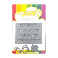 Waffle Flower Crafts - Stand Alone Craft Die - Little One Alpha