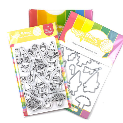 Waffle Flower Crafts - Craft Die and Clear Photopolymer Stamp Set - Happy Gnomes