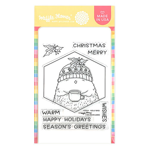 Waffle Flower Crafts - Clear Photopolymer Stamps - Holly Bird
