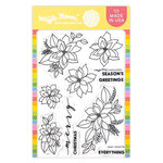 Waffle Flower Crafts - Clear Photopolymer Stamps - Poinsettia