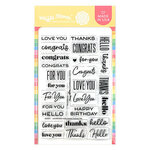 Waffle Flower Crafts - Clear Photopolymer Stamps - Classic Sentiments