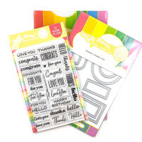 Waffle Flower Crafts - Craft Die and Clear Photopolymer Stamp Set - Classic Sentiments