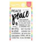 Waffle Flower Crafts - Clear Photopolymer Stamps - Oversized Peace