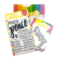 Waffle Flower Crafts - Craft Die and Clear Photopolymer Stamp Set - Oversized Peace