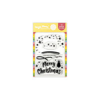 Waffle Flower Crafts - Clear Photopolymer Stamps - 2-Step Merry Christmas