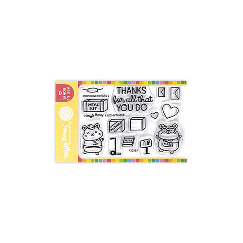 Waffle Flower Crafts - Clear Photopolymer Stamps - Frontline Heroes 2