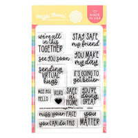 Waffle Flower Crafts - Clear Photopolymer Stamps - Safe at Home Sentiments