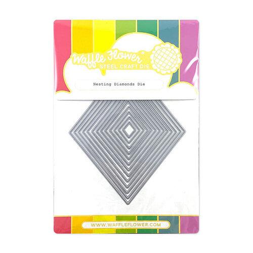 Waffle Flower Crafts - Craft Die - Nesting Diamonds
