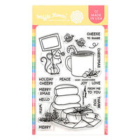 Waffle Flower Crafts - Christmas - Clear Photopolymer Stamps - Holiday Cheese