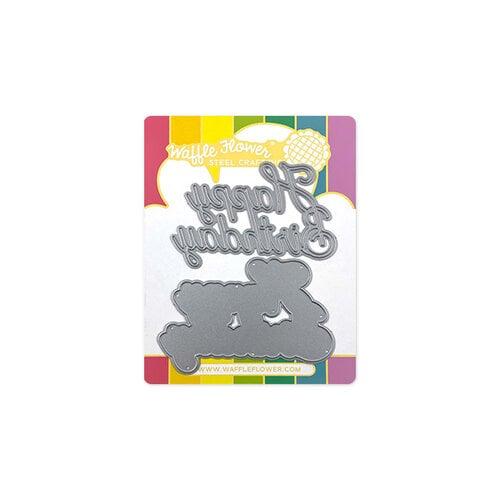 Waffle Flower Crafts - Craft Die - Happy Birthday Word