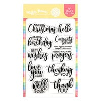 Waffle Flower Crafts - Clear Photopolymer Stamps - Essential Sentiments