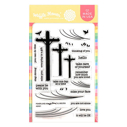 Waffle Flower Crafts - Clear Photopolymer Stamps - Power Lines