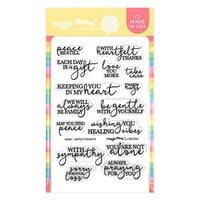 Waffle Flower Crafts - Clear Photopolymer Stamps - Tender Thoughts