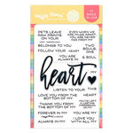 Waffle Flower Crafts - Hearts and Roses Collection - Clear Photopolymer Stamps - Oversized Heart
