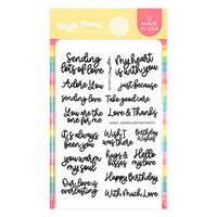 Waffle Flower Crafts - Hearts and Roses Collection - Clear Photopolymer Stamps - Sending Love Sentiments