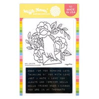 Waffle Flower Crafts - Hearts and Roses Collection - Clear Photopolymer Stamps- Love Letter