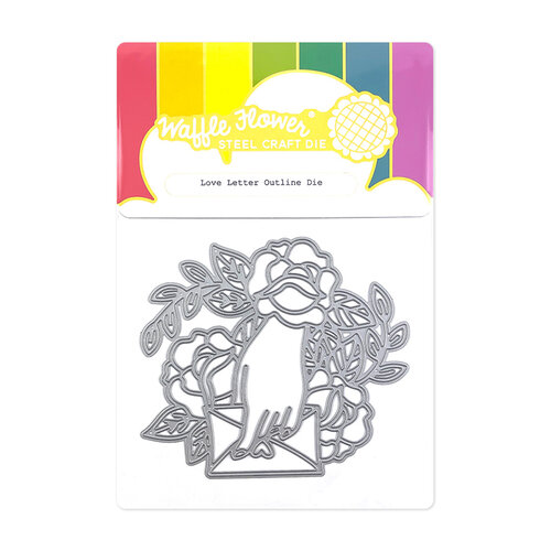 Waffle Flower Crafts - Hearts and Roses Collection - Dies - Love Letter Outline