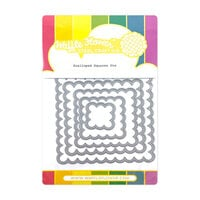 Waffle Flower Crafts - Hearts and Roses Collection - Dies - Scalloped Squares