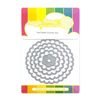 Waffle Flower Crafts - Hearts and Roses Collection - Dies - Scalloped Circles