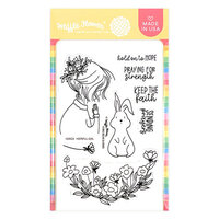 Waffle Flower Crafts - Hope Collection - Clear Photopolymer Stamps - Hopeful Girl
