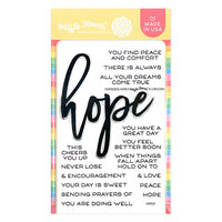 Waffle Flower Crafts - Hope Collection - Clear Photopolymer Stamps - Oversized Hope
