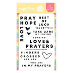 Waffle Flower Crafts - Hope Collection - Clear Photopolymer Stamps - Caring Hands Sentiments