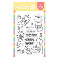Waffle Flower Crafts - Clear Photopolymer Stamps - Birthday Kitties