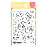 Waffle Flower Crafts - Clear Photopolymer Stamps - Birthday Puppies