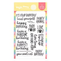 Waffle Flower Crafts - Clear Photopolymer Stamps - Pawsome Birthday Sentiments